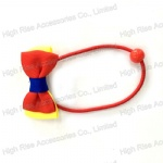 Double Color Grosgrain Ribbon Bow Hair Elastic Ponytail Holder Hair Band