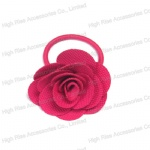 Fuchsia Rose Hair Band Hair Elastic Ponytail Holder