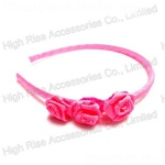 Ribbon Rose Headband, Party Alice Band