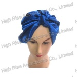 Blue Satin Knotted Bandana, Knotted Headwrap