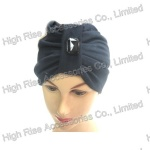 Soft-Touch Navy Blue Bandana Headwrap for winter