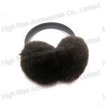 Black Leather Band Earmuffs For Winter