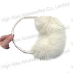Crystal Band White Earmuffs For Winter