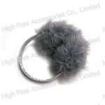 Grey Fur Earmuffs