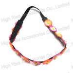 Small Colored Flowers Elastic Headband, Party Garland