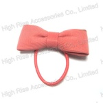 Pale Pink Bow Hair Elastic Ponytail Holder