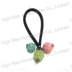 Colored Shambhala Beads Hair Elastic Ponytail Holder