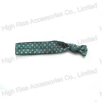 Polka Dots Blue Hair Tie, Hair Elastic for Ponytail
