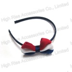 Flag Color Stripes Bow Alice Band/ Headband,