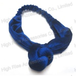 Plain Color Velvet Big Knot Headwrap For Winter
