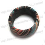Colored Fabric Wrapped Bangle