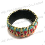 Ethnic Pattern Braided Belt Wrap Bangle