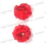 Small Red Flower Hair Clip, Duck Clip For Party and Holiday