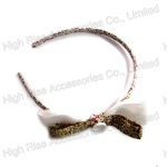 Floral Ribbon Bow Alice Band, Double Colored Bow Headband
