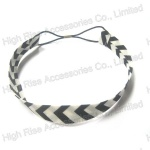 Black And White Stripe Band Elastic Headband