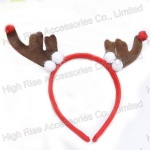 Christmas Reindeer Antlers and Pom Pom Headband Party