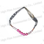 Transparent Beads With Fabric Belt Necklace