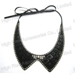Crystal Fringe Black Beaded Collar