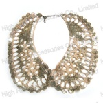 Golden Sequin Hollow-out Collar