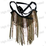 Long Metal Chains Fringe Collar/ Collar Necklace