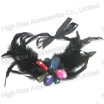 Colored Crystal Flower Feather Collar