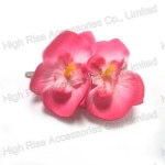 Hawii Flower Hair Clip, Pink Flower Alligator Clip