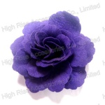 Blue Felt Rose Flower Hair Clip with Brooch Clip