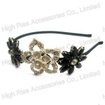 Crystal And Stone Flower Alice Band, Crystal Headband