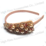 Multiple Crystals Beaded Ornaments Alice Band