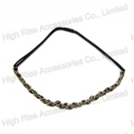 Chain And Ribbon Braided Elastic Headband