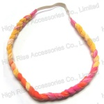 Rainbow Color Braided Elastic Headband