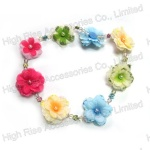 Small Colorful Flower Beads