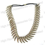 Metal Born Shape Charm Elastic Headband