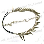 Metal Cone Shape Charm Indian Forehead Headband