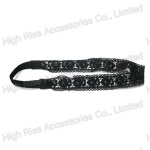 Black Flower Pattern Lace Headband