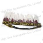 Indian Feather Crown Elastic Headband