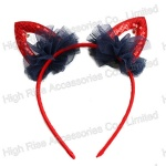 Sequin Cat Ears Headband, Halloween Party Headband