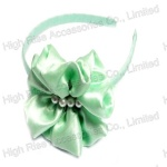Big Chiffon Bow With Pearls Alice Band