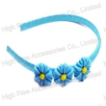 Three Small Blue Flower Alice Band