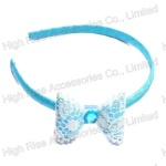 White Lace Bow Alice Band