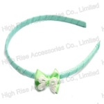 Chiffon Bow With Butterfly Alice Band