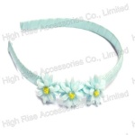 Light Blue Orchid Flowers Alice Band