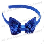 Sequin Sewed Ribbon Bow Alice Band