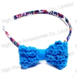 Crocheted Bow Alice Band
