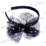 Dotted Mesh Bow Alice Band