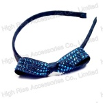 Crystal Beaded Bow Alice Band