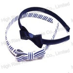 Stripe Bow Alice Band