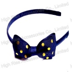 Yellow Dots Ribbon Bow Alice Band