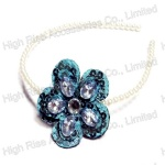 Sequin And Stones Ornament Flower Alice Band