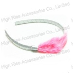 Pink Feather Alice Band